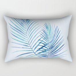 Feathery Palm Leaves Rectangular Pillow