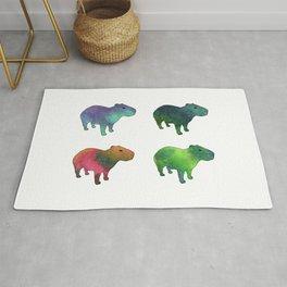 Space Capybaras Rug