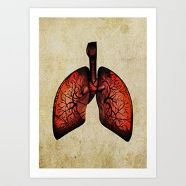 Lungs art - Tree inspiration Art Print