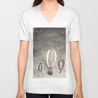 hot air balloons V-neck T-shirts featuring Hot Air Balloons by Evanne Deatherage