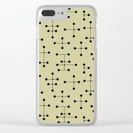 Atomic Era Dots 104 Clear iPhone Case