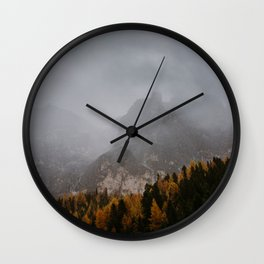 Rain in The Mountains Wall Clock