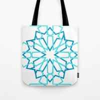 arabic Tote Bags featuring Arabic Pattern by Soso Creation
