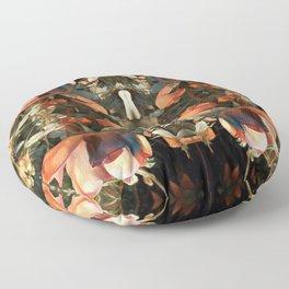 darker brown rose Floor Pillow