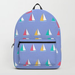 Colorful Summer Sailboats Backpack