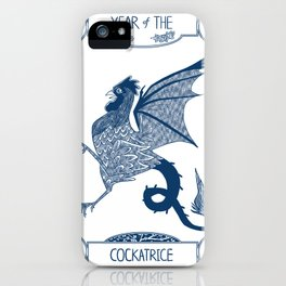 Year of the Cockatrice (Porcelain) iPhone Case