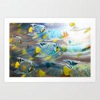 Swim Swim Swim Art Print