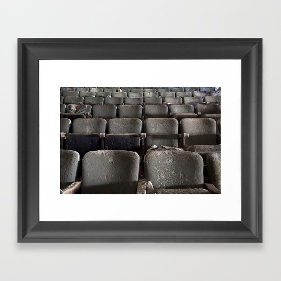 Theater Seats Framed Art Print