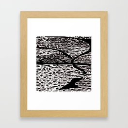 Stylized1SpotFace Framed Art Print