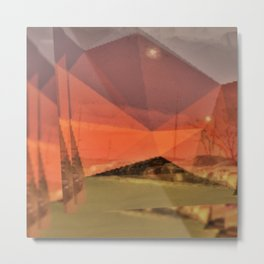 Minimal Brooklyn Sunset Metal Print