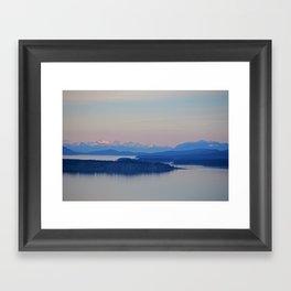 Olympic Range Framed Art Print