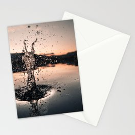 Water Drop Sunset Form Stationery Cards