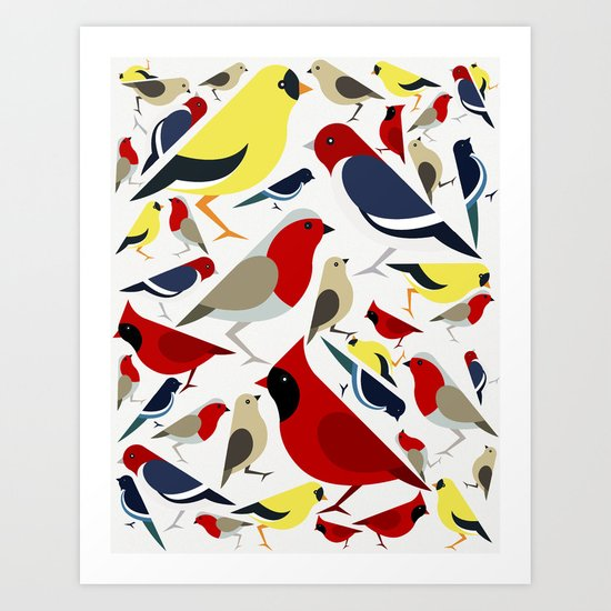 The birds from the colorful world Art Print