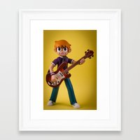 scott pilgrim Framed Art Prints featuring Scott Pilgrim by MrMarkCann