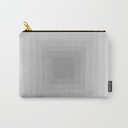 Gray Monochrome Carry-All Pouch