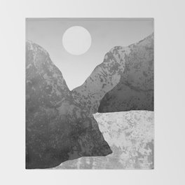 Moon and Mountains Throw Blanket