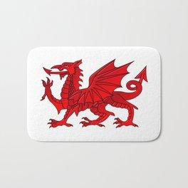 Welsh Dragon With a Bevel Effect Bath Mat