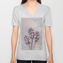 Delicate Hyacinths Unisex V-Neck