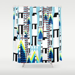 Saturn V launch Shower Curtain
