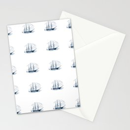 Nautical Marine Anchor Ship Seamless Pattern Stationery Cards