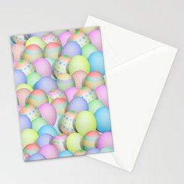 Pastel Colored Easter Eggs Stationery Cards