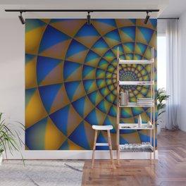 Blue Spiral Wall Mural