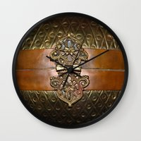 sansa stark Wall Clocks featuring Sansa by The Brass Clasp