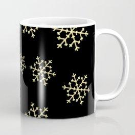 Golden Snowflakes Coffee Mug