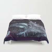 pirates Duvet Covers featuring Space Pirates  by Drewnelz