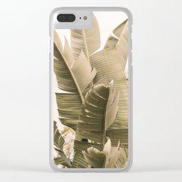 Modern Green Clear iPhone Case