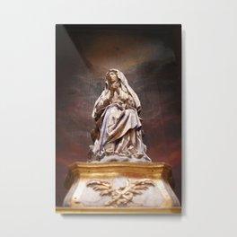 Weeping Madonna Metal Print