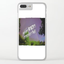 Amazing rainbows Clear iPhone Case