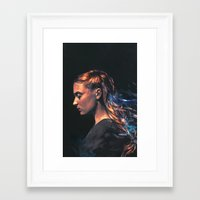 sansa Framed Art Prints featuring Amethyst by Alice X. Zhang