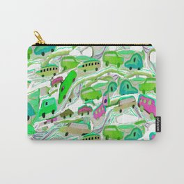 Green Cars All Over Carry-All Pouch