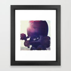 Big Round Boba Fett Framed Art Print
