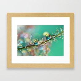 Smokey Rainbow Drops Framed Art Print