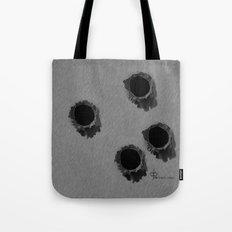 Bullet holes Tote Bag