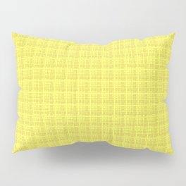 Yellow Check Pillow Sham