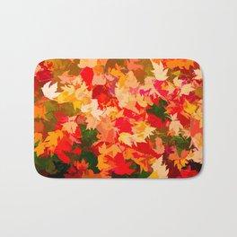 Autumn Leaves (orange, yellow, red, green) Bath Mat