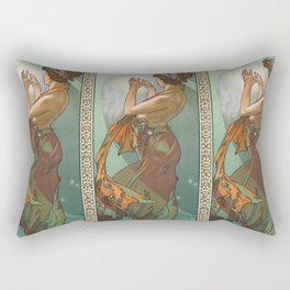"Alphonse Mucha ""The Moon and the Stars Series: The Pole Star"" Rectangular Pillow"