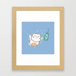 Nevermind Cat Framed Art Print