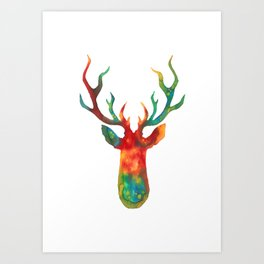 Psychedelic Stag Art Print