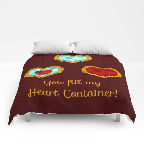 HEART CONTAINER Comforters
