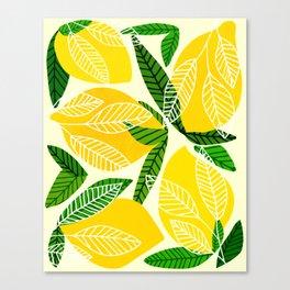 The Lemon Party II / Fruit Illustration Canvas Print