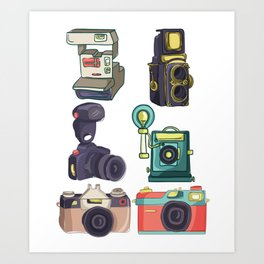 Photographer Camera Collection Manual Mood Gift Art Print