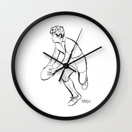 Rugby Junior Player by PPereyra Wall Clock
