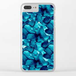 Abstract XIV Clear iPhone Case