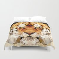 marley Duvet Covers featuring abstract tiger by Ancello