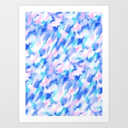 Love Spell Turquoise Pink Art Print