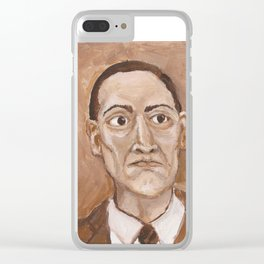 Howard Phillips Lovecraft Clear iPhone Case